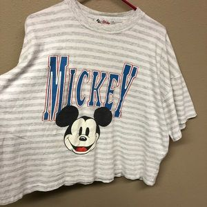 Disney fashions Mikey mouse crop tee